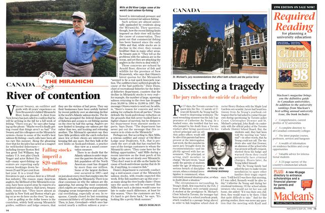Article Preview: Dissecting a tragedy, July 1998 | Maclean's