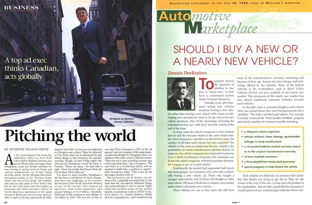 Article Preview: Pitching the world, July 1998 | Maclean's
