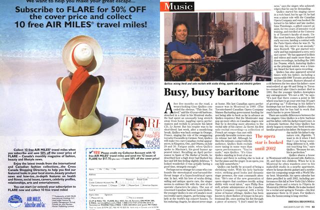 Article Preview: Busy, busy baritone, July 1998 | Maclean's