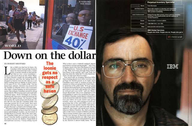 Article Preview: Down on the dollar, July 1998 | Maclean's