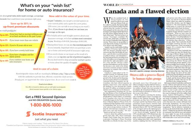 Article Preview: Canada and a flawed election, July 1998 | Maclean's