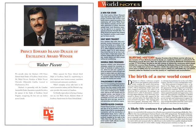 Article Preview: World NOTES, July 1998 | Maclean's