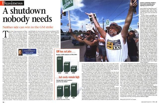 Article Preview: A shutdown nobody needs, July 1998 | Maclean's