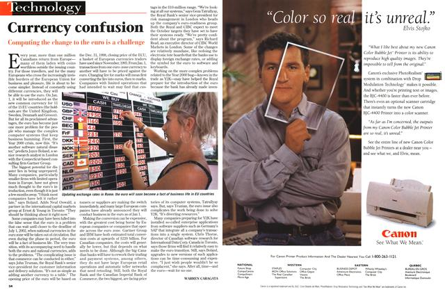 Article Preview: Currency confusion, July 1998 | Maclean's