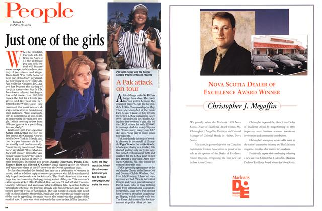 Article Preview: Just one of the girls, July 1998 | Maclean's