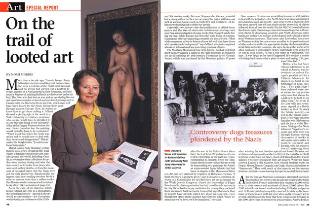 Article Preview: On the trail of looted art, July 1998 | Maclean's