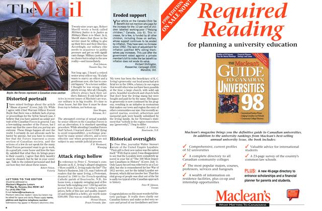 Article Preview: The Mail, July 1998 | Maclean's