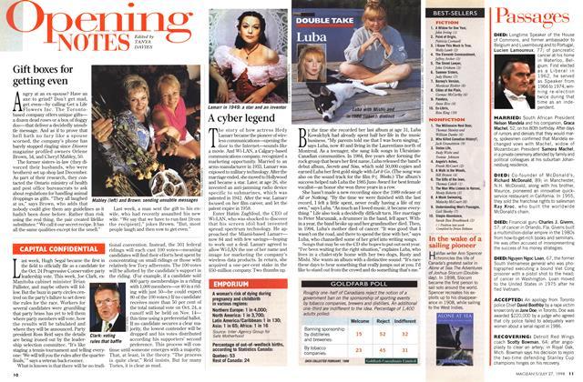 Article Preview: BEST-SELLERS, July 1998 | Maclean's