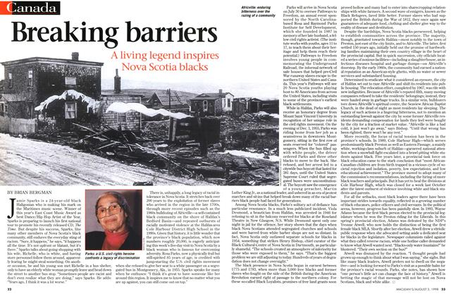 Article Preview: Breaking barriers, August 1998 | Maclean's