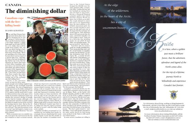Article Preview: The diminishing dollar, August 1998 | Maclean's