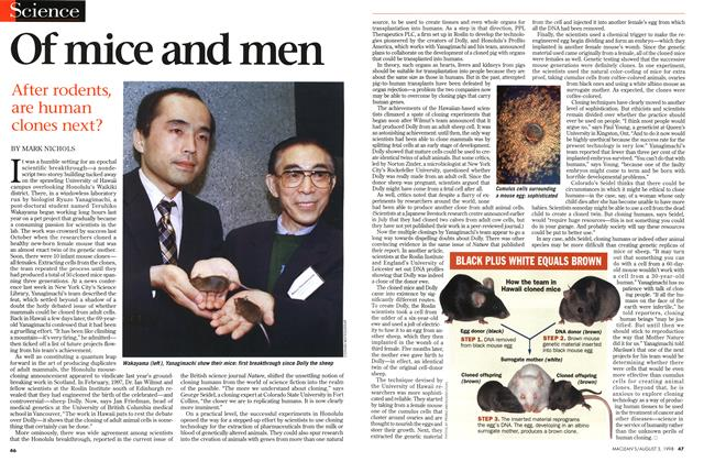 Article Preview: Of mice and men, August 1998 | Maclean's