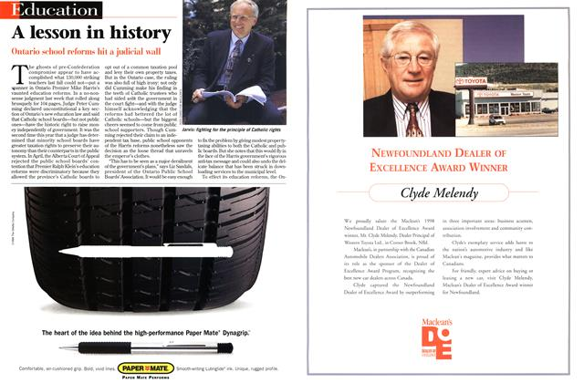 Article Preview: A lesson in history, August 1998 | Maclean's