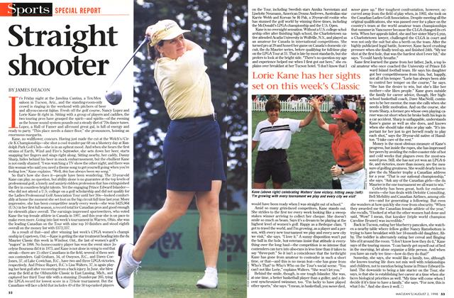 Article Preview: Straight shooter, August 1998 | Maclean's