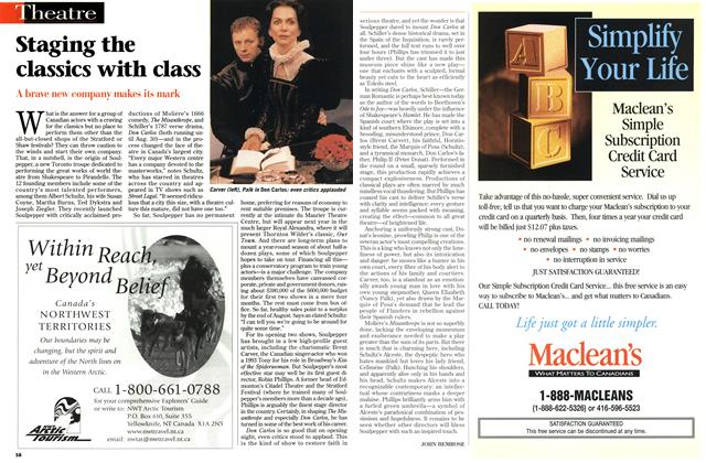 Article Preview: Staging the classics with class, August 1998 | Maclean's