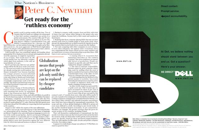 Article Preview: Get ready for the 'ruthless economy', August 1998 | Maclean's