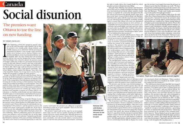 Article Preview: Social disunion, August 1998 | Maclean's