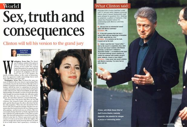 Article Preview: Sex, truth and consequences, August 1998 | Maclean's