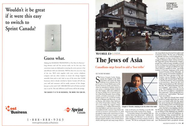 Article Preview: The Jews of Asia, August 1998 | Maclean's