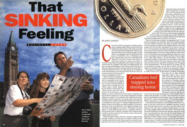 Article Preview: That SINKING Feeling, August 1998 | Maclean's