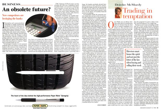 Article Preview: Trading in temptation, August 1998 | Maclean's