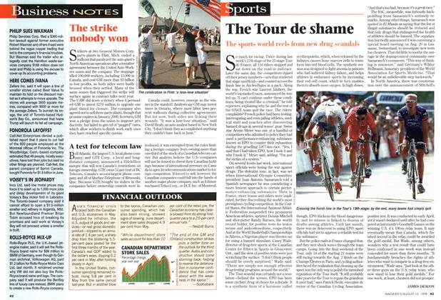 Article Preview: The Tour de shame, August 1998 | Maclean's