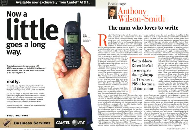 Article Preview: The man who loves to write, August 1998 | Maclean's