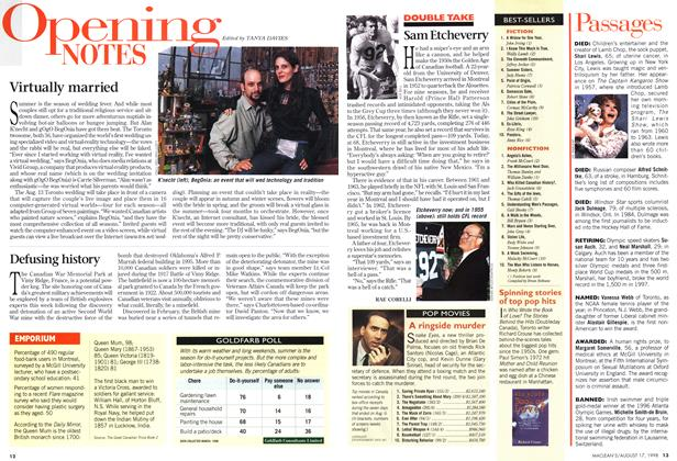 Article Preview: Opening NOTES, August 1998 | Maclean's