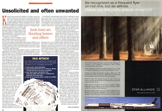Article Preview: Unsolicited and often unwanted, August 1998   Maclean's