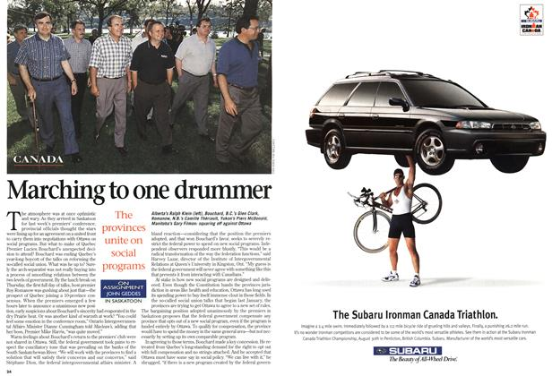 Article Preview: Marching to one drummer, August 1998 | Maclean's