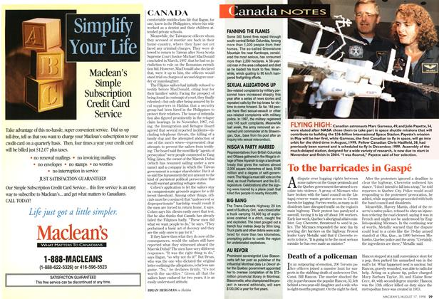 Article Preview: Canada NOTES, August 1998   Maclean's