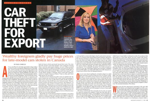 Article Preview: CAR THEFT FOR EXPORT, August 1998 | Maclean's
