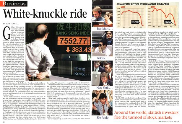 Article Preview: White-knuckle ride, August 1998 | Maclean's
