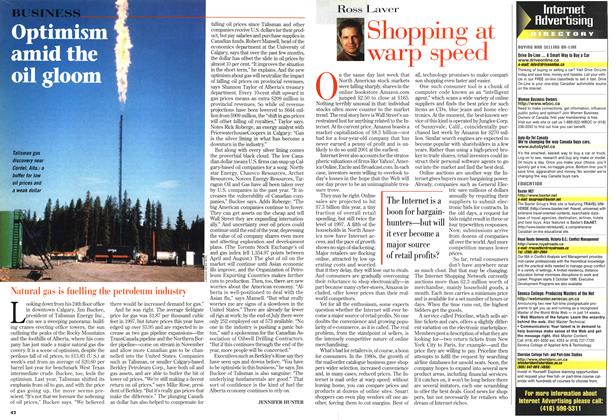 Article Preview: Optimism amid the oil gloom, August 1998 | Maclean's