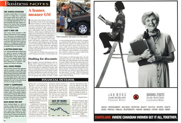 Article Preview: Business NOTES, August 1998 | Maclean's