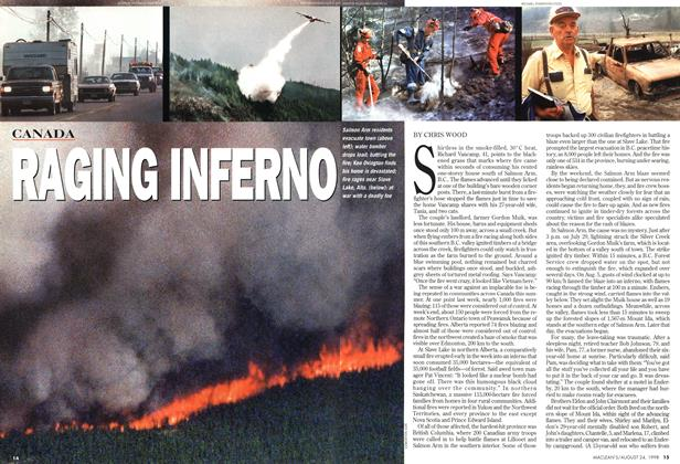 Article Preview: RAGING INFERNO, August 1998 | Maclean's