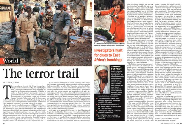 Article Preview: The terror trail, August 1998 | Maclean's