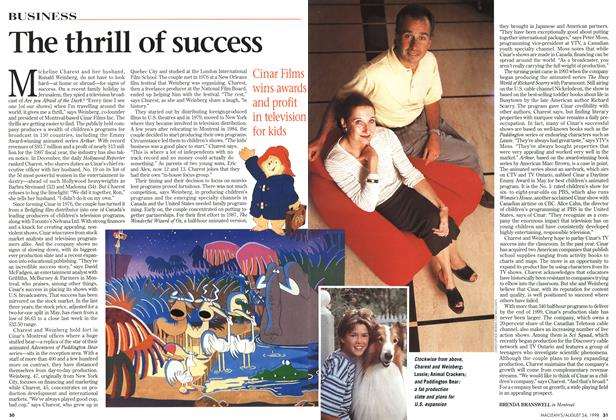 Article Preview: The thrill of success, August 1998 | Maclean's