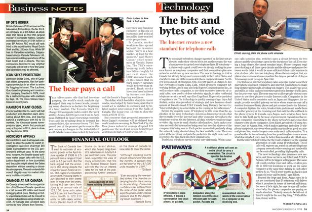 Article Preview: The bits and bytes of voice, August 1998 | Maclean's