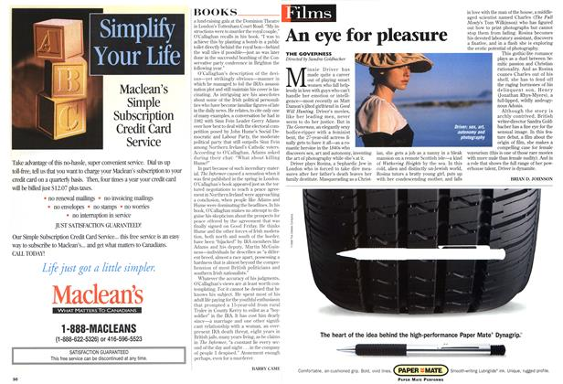 Article Preview: An eye for pleasure, August 1998 | Maclean's