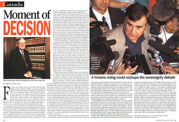 Article Preview: Moment of DECISION, August 1998 | Maclean's