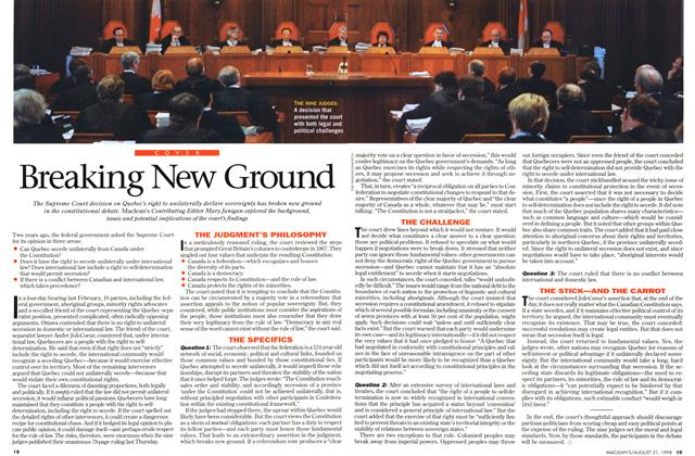 Article Preview: Breaking New Ground, August 1998 | Maclean's