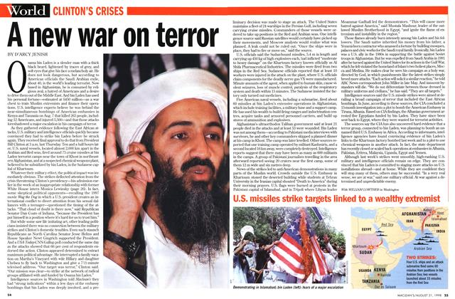 Article Preview: A new war on terror, August 1998 | Maclean's