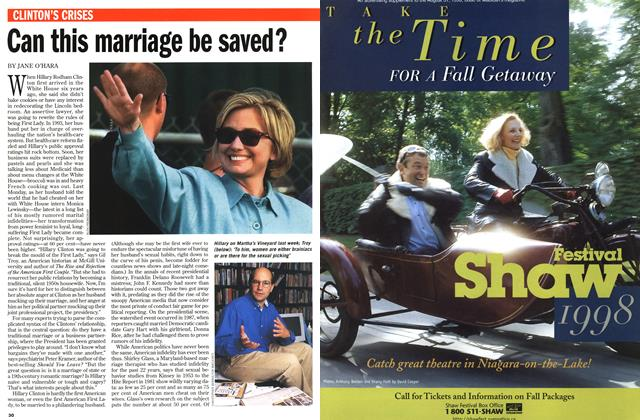 Article Preview: Can this marriage be saved?, August 1998 | Maclean's