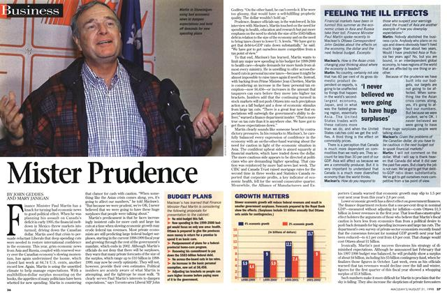 Article Preview: Mister Prudence, August 1998 | Maclean's