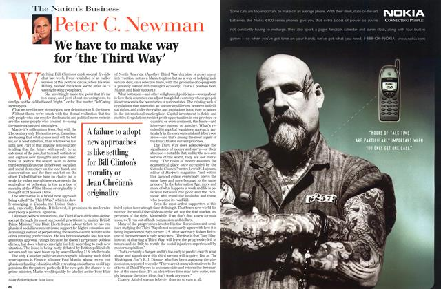 Article Preview: We have to make way for 'the Third Way', August 1998 | Maclean's