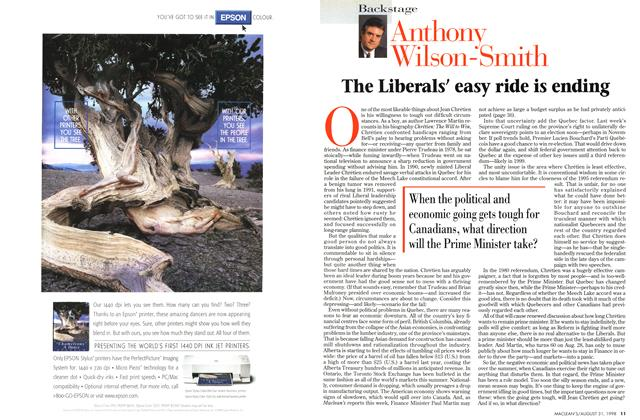 Article Preview: The Liberals' easy ride is ending, August 1998 | Maclean's