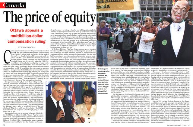 Article Preview: The price of equity, September 1998 | Maclean's