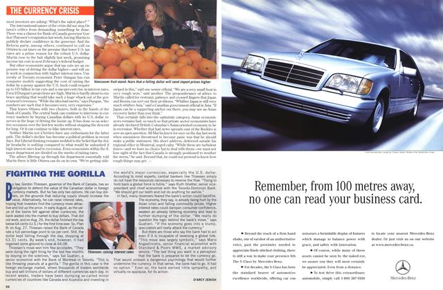 Article Preview: FIGHTING THE GORILLA, September 1998 | Maclean's