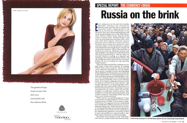 Article Preview: Russia on the brink, September 1998 | Maclean's