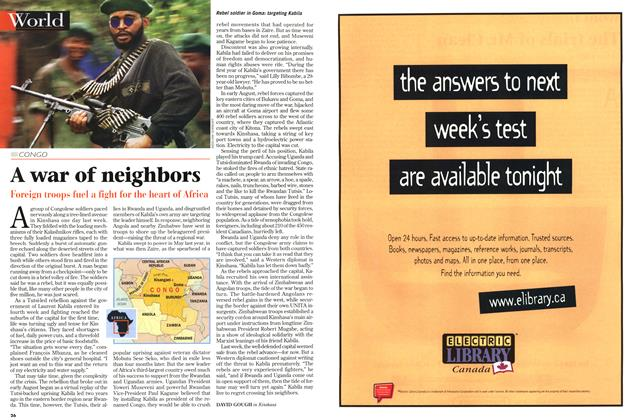 Article Preview: A war of neighbors, September 1998 | Maclean's